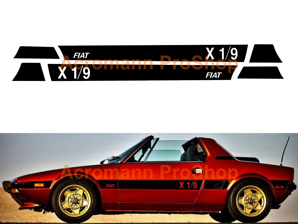 Fiat X1/9 Side Stripe Door Decal (Style#1) x 1 pair